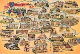 PUY DE DOME BERRY TOURISTIQUE  DESSINS MONUMENTS (scan Recto-verso) KEVREN0344 - Autres Communes