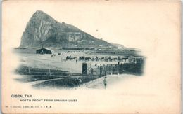 GIBRALTAR - North Front From Span,ish Lines - Gibilterra