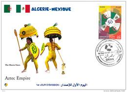 ALG Algeria N° 1712 FDC Aztec Empire - History - Aztec Warrior - Warriors War Arms Maya Mexico America - American Indians