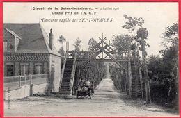 CPA 76 Descente Rapide De SEPT MEULES Circuit De La Seine Inférieure Grand Prix De L' A.C.F. Juillet 1907 - Eu