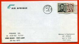PREMIERE  LIAISON : AIR AFRIQUE/D.C8-63 TUTCF  , C.A.D  DU  28  MAI  1970 , A  SAISIR . - Avions