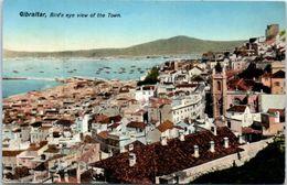 GIBRALTAR -- Bird's Eye Vien Of The Town - Gibraltar