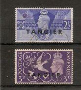 MOROCCO AGENCIES - TANGIER 1946 VICTORY SET SG 253/254 FINE USED - Morocco Agencies / Tangier (...-1958)