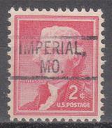 USA Precancel Vorausentwertung Preo, Locals Missouri, Imperial 802 - Vereinigte Staaten