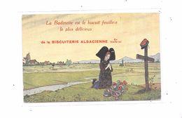CPA Illustrateur HANSI : La Badinette Est Le Biscuit Feuilleté Le Plus Délicieux, BISCUITERIE ALSACIENNE - Hansi