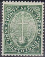 Vaticano 0040 (*)  Escudo.1933. Sin Goma - Vatican