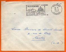 MAYENNE   MT ST MICHEL   1963 Lettre Entière N° FF 548 - Marcophilie (Lettres)