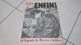 Minute N° 917 Du 7 Au 13 Novembre 1979 - La Mort De Jacques Mesrine (TRES RARE) - Informations Générales