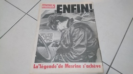 Minute N° 917 Du 7 Au 13 Novembre 1979 - La Mort De Jacques Mesrine (TRES RARE) - General Issues