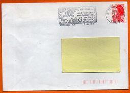 15 AURILLAC  SA MAISON DES VOLCANS  1982 Lettre Entière N° FF 454 - Postmark Collection (Covers)