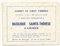 Basilique Sainte Thérèse De Lisieux - Carnet Complet De 20 Vignettes - Autres