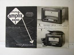 Sci&Tec. 3. Feuillet Publicitaire Des Anciennes Radios Amplix - Literature & Schemes