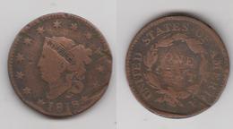 USA - 1 CENT 1818 - 1816-1839: Coronet Head
