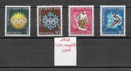 Sport D'hiver - Suisse N°449 à 452 1948 (JO De Saint-Moritz 1948) ** - Winter 1948: St. Moritz