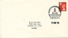 Great Britain Cover Sent To USA Glasgow Philatelic Counter 10-3-1994 - 1952-.... (Elizabeth II)