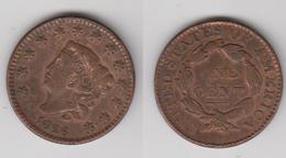 USA - 1 CENT 1826 - TTB/FDC - RESTE COULEUR D'ORIGINE - Federal Issues
