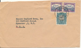 South Africa Cover Sent To USA 7-2-1952 - South Africa (...-1961)