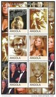 ANGOLA 2000 FILMS MAGIC SPIELBERG ALAN STRIESAND EINSTEIN DOUGLAS MNH - Angola