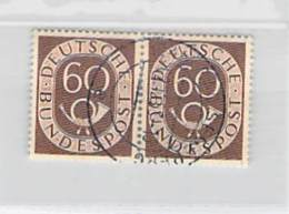 R Bund Michel# 135, Waagerechtes Paar,  Posthorn 1951 - Used Stamps