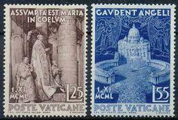 Vaticano 0161/162 ** MNH. 1951 - Vaticano (Ciudad Del)