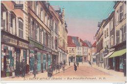 57 SAINT AVOLD RUE PRESINDENT POINCARE TRES ANIMEE BON ETAT - Saint-Avold