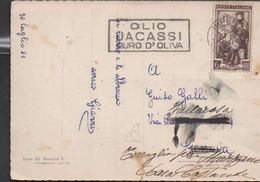 3179    Postal  Imperia  1951 Italia, Flamme Alimentación, Aceite De Oliva, D'oliva,.olio,Re-expedida - Food