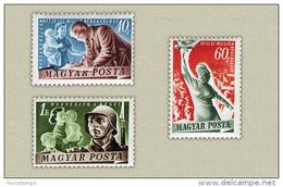 Hungary 1950. Peace Nice Set MNH (**) Michel: 1139-1141 / 28 EUR - Unused Stamps