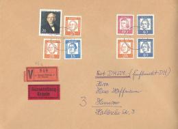 Berlin / Bund Wertbrief  500 DM Auf Einschreiben Brief Mit Lacksiegel - Lettere