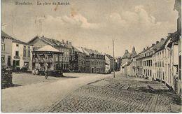 Houffalize - La Place Du Marché - Kiosque - Circulé 1913 Vers Graide Gare à Rosine Bertrumé - Edit. E. Lemaire - Houffalize