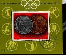 Rumänien Block 100 Olympische Sommerspiele Used Gestempelt - Hojas Bloque