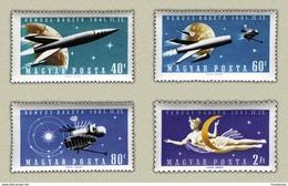 Hungary 1961. Venus Space Nice Set MNH (**) Michel: 1758-1761 / 5.50 EUR - Unused Stamps