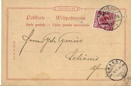 14-22 - Carte Envoyée De Berlin En Suisse 1895 - Attention Petit Trou - Covers & Documents