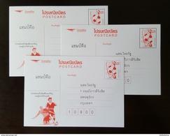 Thailand Postcard 2016 UEFA European Football - 3 Printing Companies - Thailand