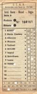 BIGLIETTO STAR AUTOLINEA ROSETO BICCARI FOGGIA 1958 (TR187 - Bus
