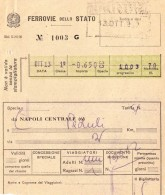BIGLIETTO TRENO 1957 NAPOLI PADULI (TR83 - Railway