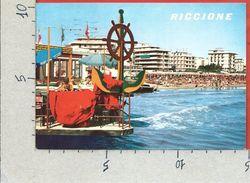 CARTOLINA VG ITALIA - RICCIONE (RM) - Alberghi E Spiaggia - 10 X 15 - ANN. 1970 - Rimini