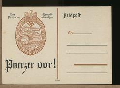 GERMANIA - 1940 - FELDPOST - STEMMA TRUPPE CORAZZATE - CARRO ARMATO PANZER -  PZKPFW-IV - Germania
