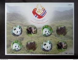 Thailand Stamp Personalized 2015 40th Ann Thai China Diplomatic Relations - Panda #1 - Tailandia