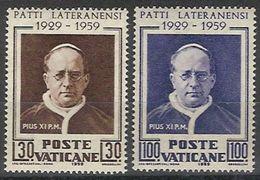 Vaticano 0272/273 ** MNH. 1959 - Vaticano (Ciudad Del)