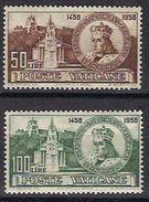 Vaticano 0282/283 ** MNH. 1959 - Vaticano (Ciudad Del)