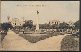 °°° 8112 - PARAGUAY - ASUNCION - PLAZA CONSTITUCION CON CATEDRAL °°° - Paraguay