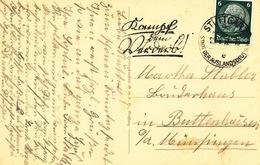 L4349 - Germany (1937) Stuttgart 9: Fight The Spoils (handwriting!); Machine Postmark; Postcard; Tariff: 6 Pf. - Languages