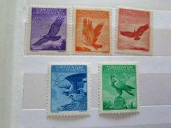 ZLieNPA9-13 - Très RARE - LIECHTENSTEIN 1934 - Série Complète Neuve** De 5 Timbres N° PA9 -13 - Aigle - Côte > 350 EUROS - Eagles & Birds Of Prey