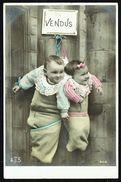 ENFANT - Couple De Bébés Vendus ;-) - Circulé - Circulated - Gelaufen - 1905. - Children