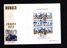 Monaco 1979 Europa Cept  Kleinbogen / Complete Sheet FDC - Europa-CEPT