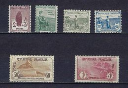 "FR YT 148 à 151 153 154 "" 1ere Série Orphelins 6 TP "" 1917-18 Neuf* - France"