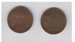 PAYS-BAS - 1 CENT  1864 - [ 3] 1815-… : Koninkrijk Der Nederlanden