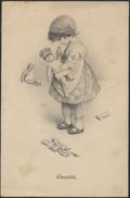 Ansichtskarte Künstlerkarte Puppendoktor Kleinkind Mädchen Sanität - Künstlerkarten