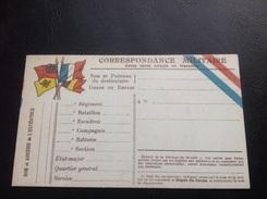 Correspondance Militaire - 4 Drapeaux - Franchise Militaire 1914-1918 - Marcophilie (Lettres)