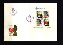Portugal 1981 Europa Cept Block FDC - 1981